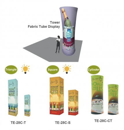 Tower series Fabric Displays