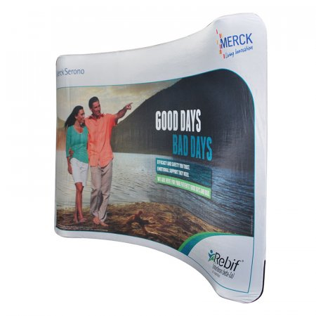 Stretch Fabric Media Walls - No of Sides:: Single, Popular sizes: 2310  x 2180 mm, Optional Extras: None