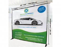 Large format banner stand