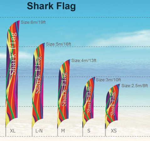 Shark - FLAGS - FLAGS size: M 4m