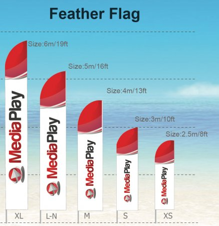 Feather - FLAGS - FLAGS size: L 5m