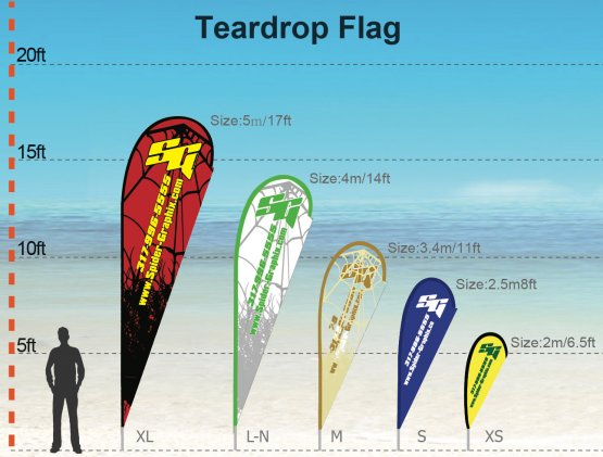 Teardrop - FLAGS - FLAGS size: XS 2m